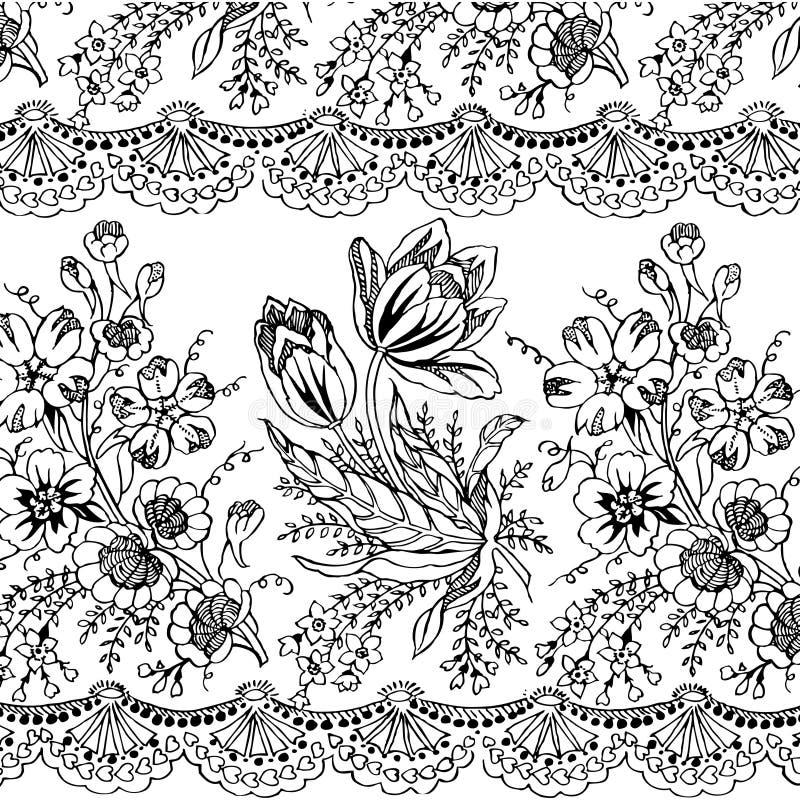 Fond de Bohème gitan floral de type illustration libre de droits