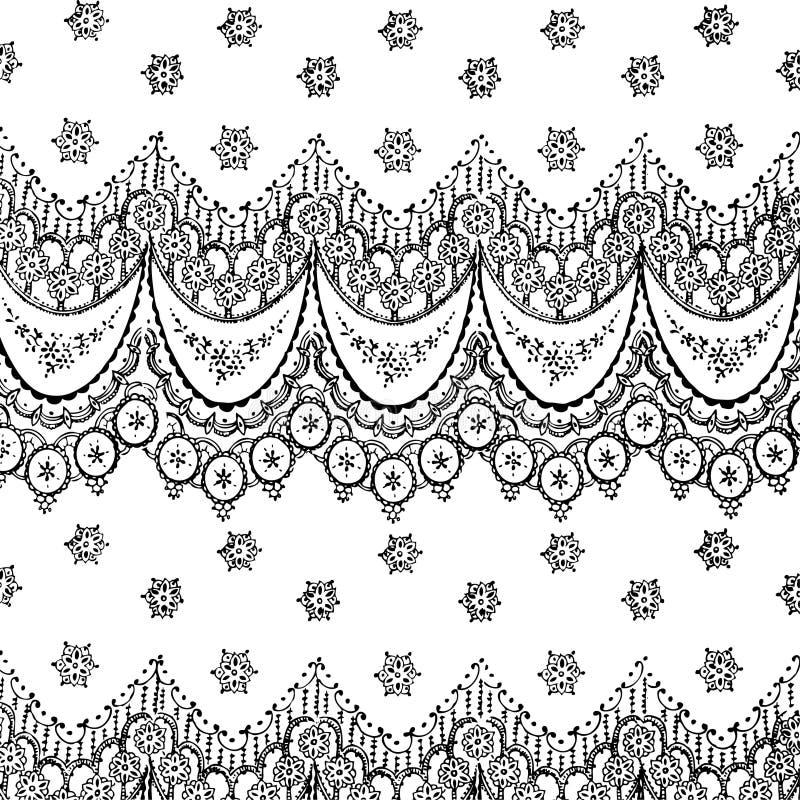 Fond de Bohème gitan floral de type illustration de vecteur