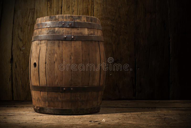Fond de bois de serre à raisin d'alcool de baril image stock
