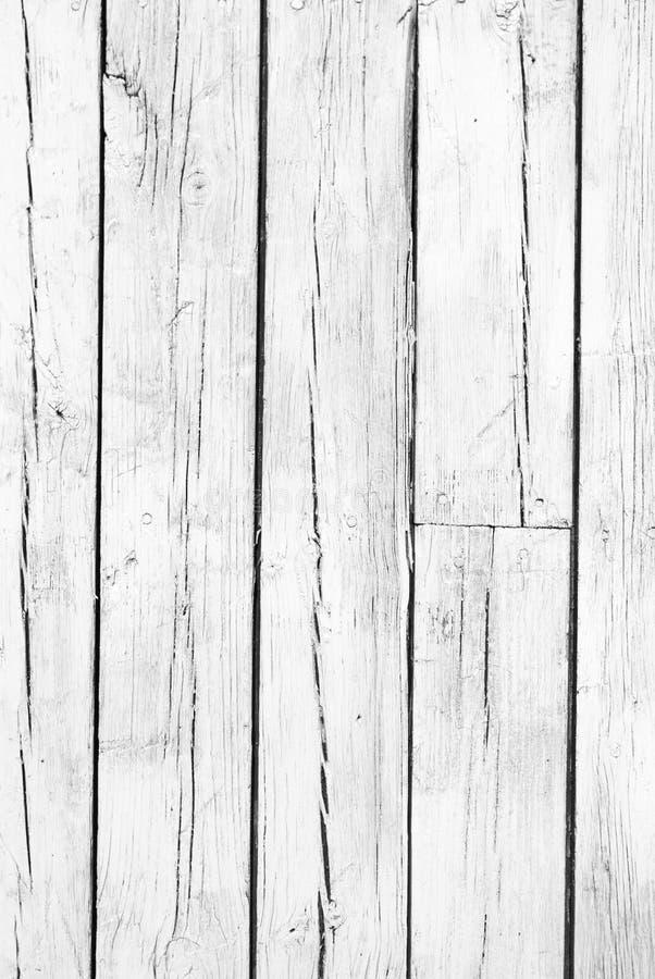 Fond de bois peint blanc superficiel par les agents image stock