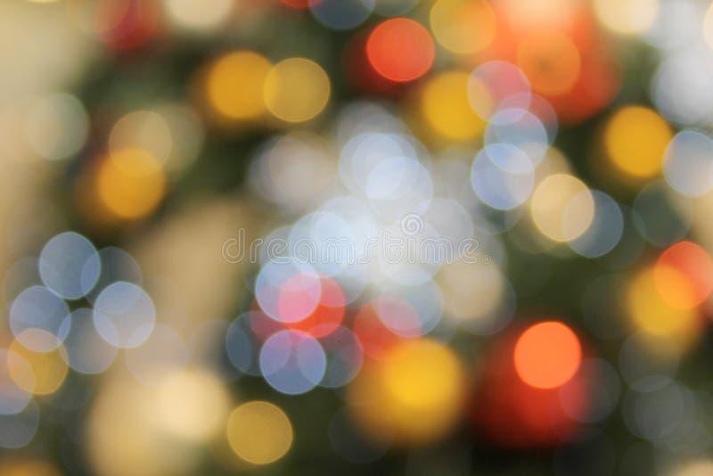 Fond de Bokeh arrondi par Noël coloré trouble abstrait photographie stock