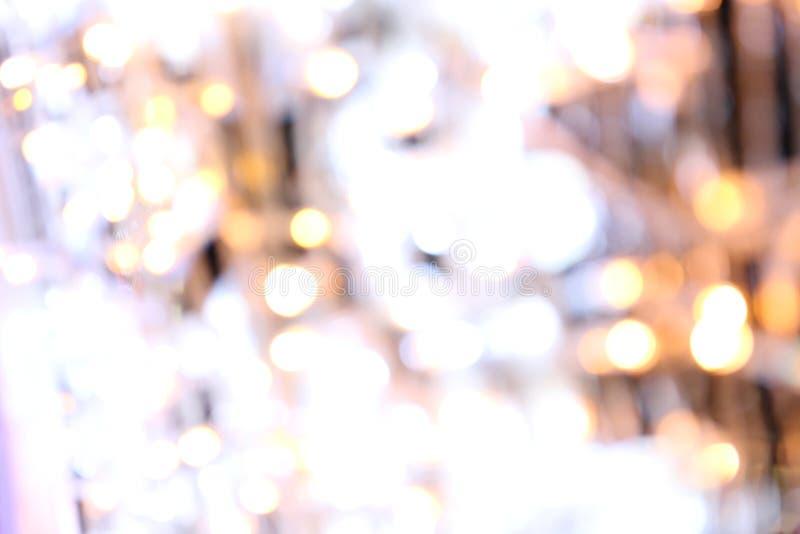 Fond de Bokeh coloré du Joyeux Noël, éclat d'éclairage de bokeh de bonne année sur le fond de nuit, lumière de scintillement de B photographie stock libre de droits