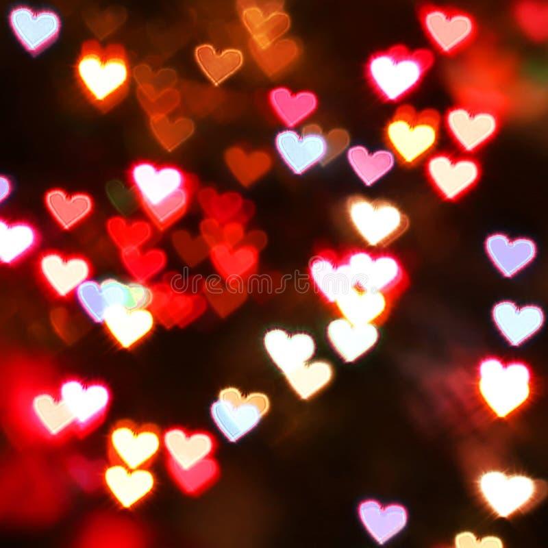 Fond de bokeh de coeur Le jour de Valentine image libre de droits