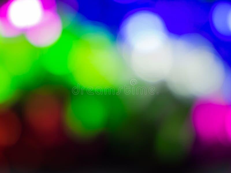 Fond de bokeh de lumière de nuit de Colorfull image libre de droits