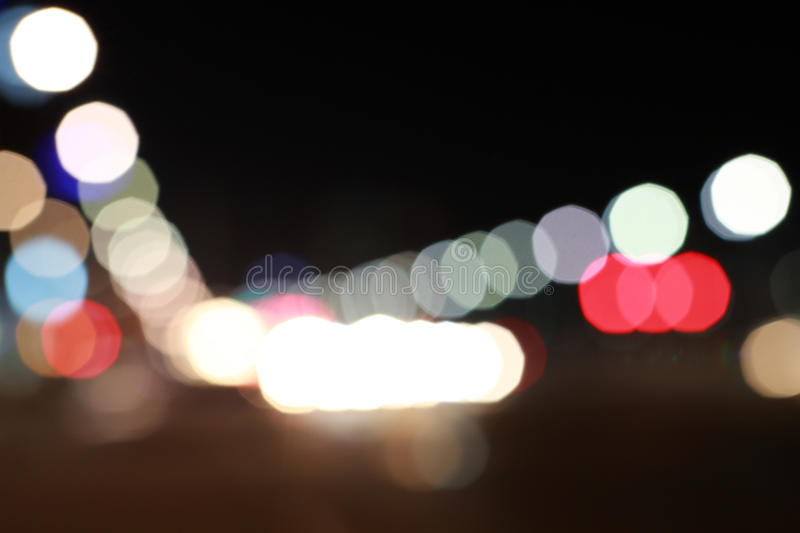 Fond de bokeh du trafic photographie stock