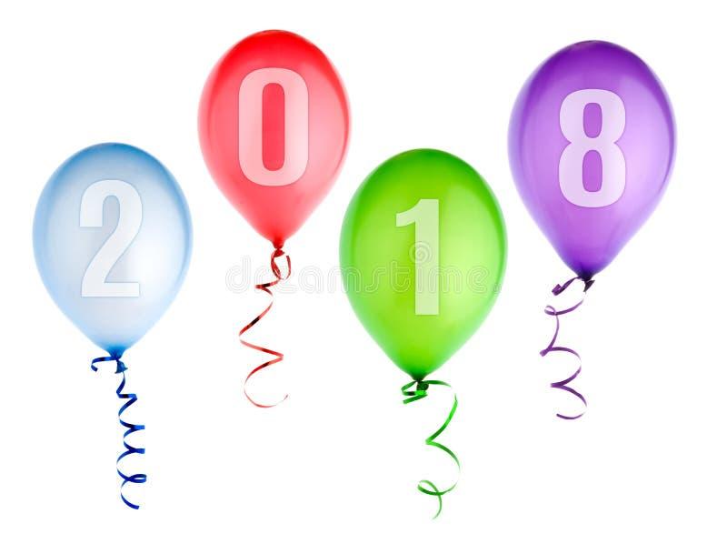 Fond de 2018 bonnes années avec des ballons illustration de vecteur