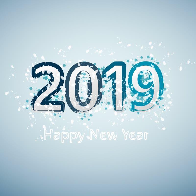 Fond de 2018 bonnes années pour vos insectes et carte de voeux saisonniers Vecteur ENV 10 illustration stock