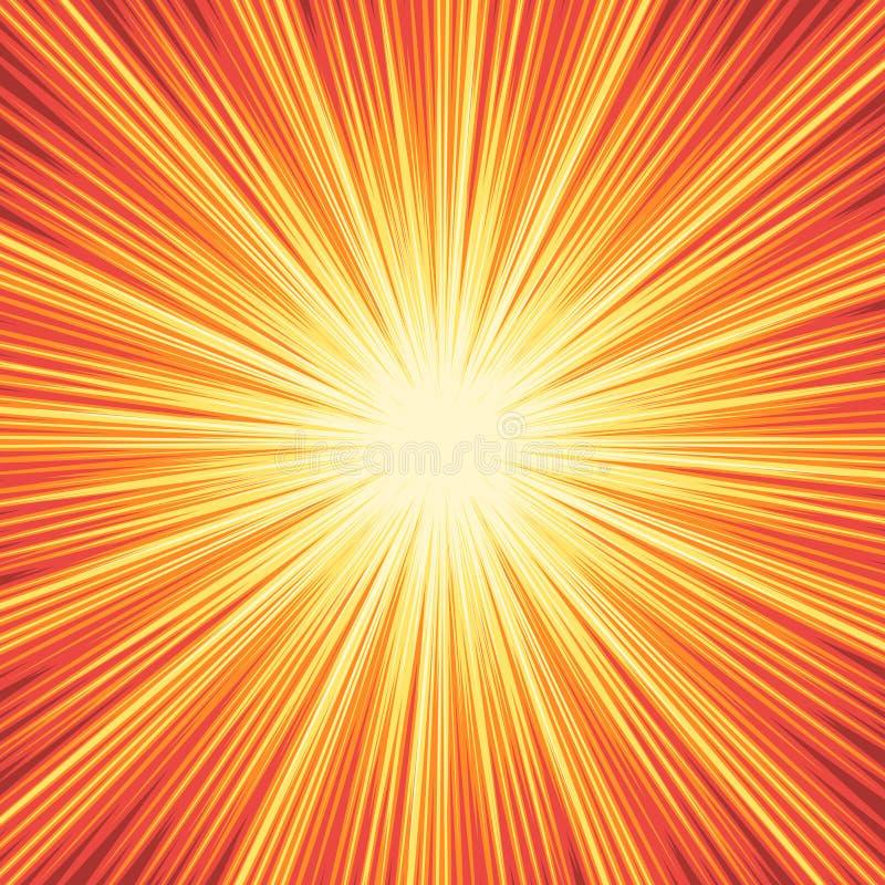 Fond de boom d'explosion illustration stock