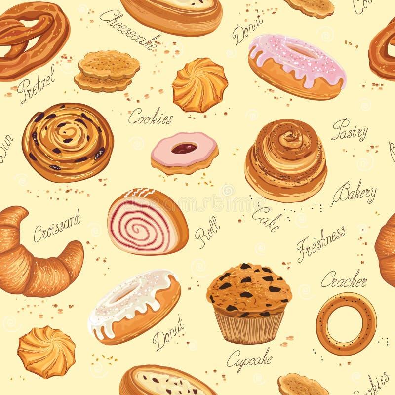 Fond de boulangerie illustration de vecteur