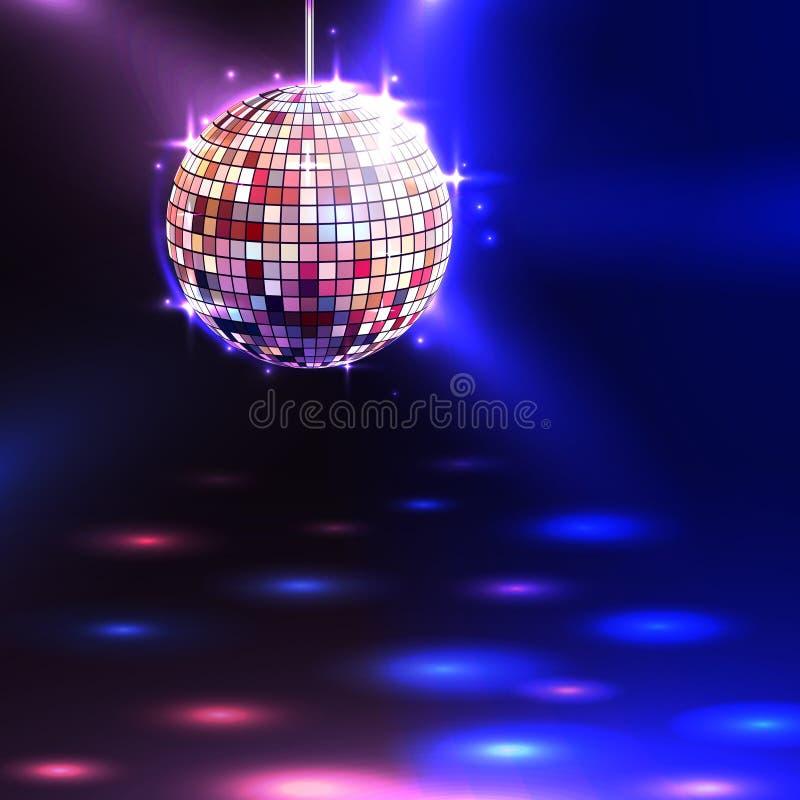 Fond de boule de disco illustration libre de droits