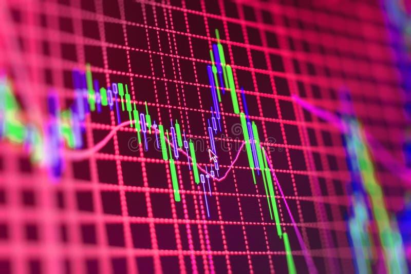 Fond de bourse des valeurs de finances images libres de droits