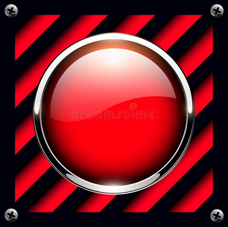 Fond de bouton d'alarme illustration stock