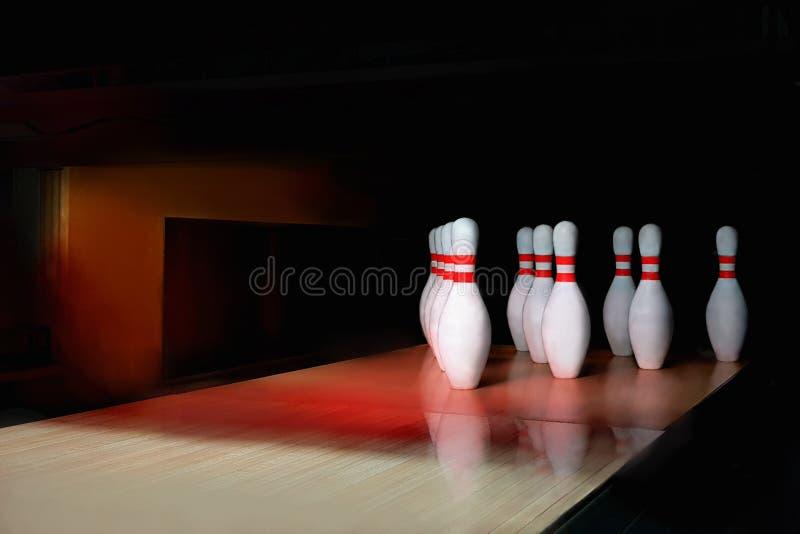 Fond de bowling de Dix bornes image stock