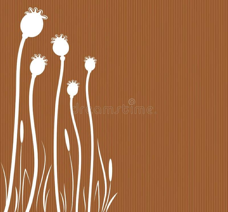 Fond de Brown. illustration de vecteur