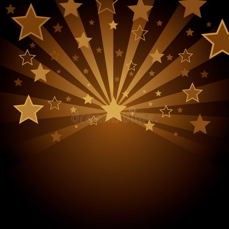 Fond de Brown avec des étoiles illustration de vecteur