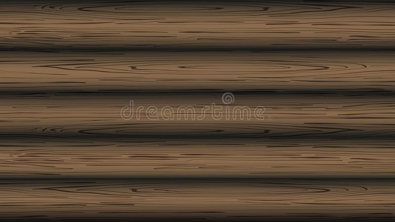 Fond de Brown avec la texture en bois Fond en bois naturel illustration stock
