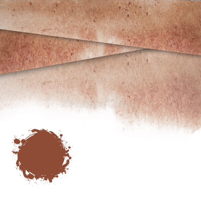 Fond de Brown avec une texture d'aquarelle pour la conception illustration stock