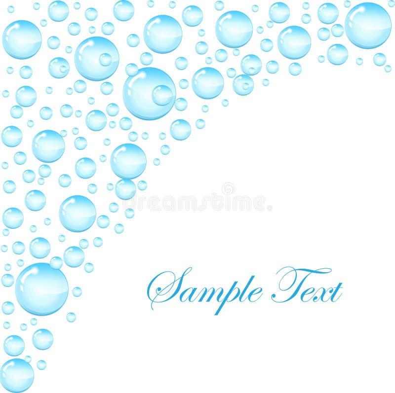 Fond de bulles de savon avec l'espace pour le texte Calibre pour le texte avec des bulles de savon, gouttelettes d'eau Illustrati illustration libre de droits