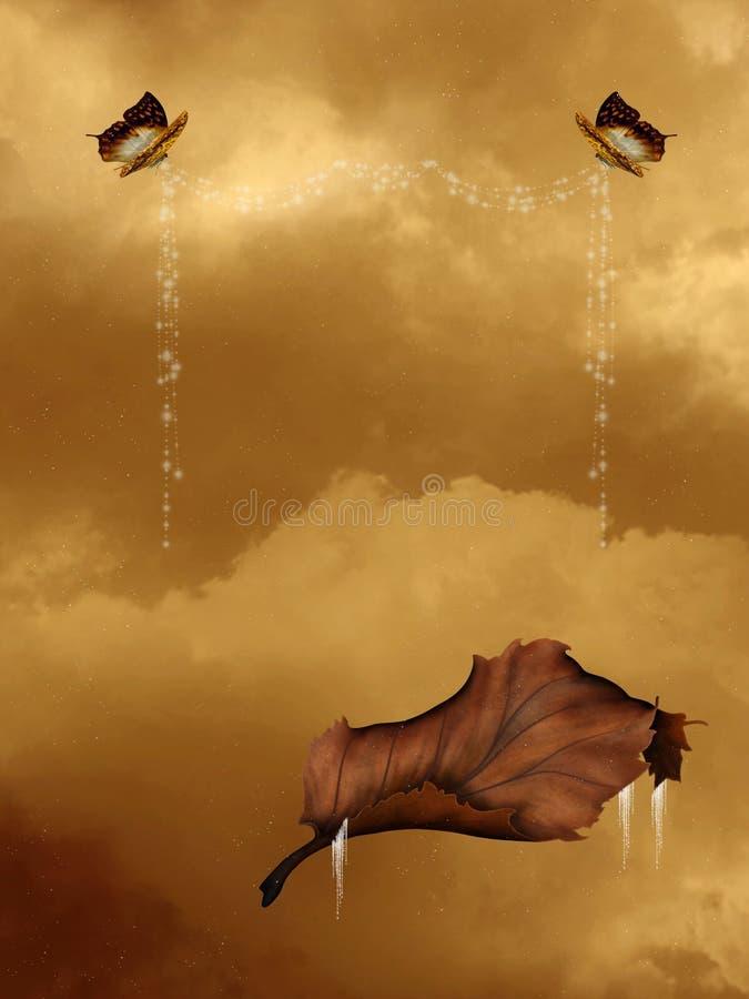 Fond de Butterflie illustration de vecteur
