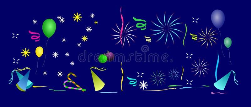 Fond de célébration. illustration stock