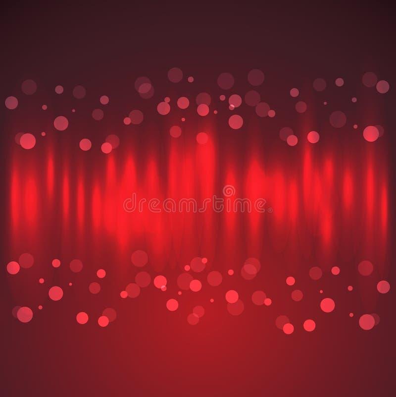 Fond de célébration avec l'effet de la lumière et le Bokeh illustration de vecteur