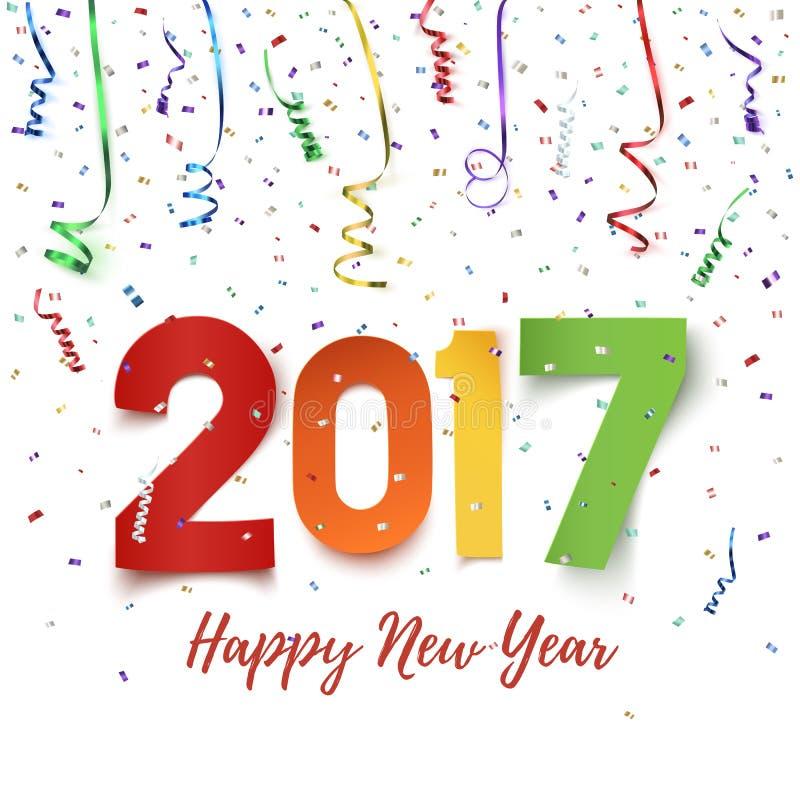 Fond 2017 de célébration de bonne année illustration libre de droits
