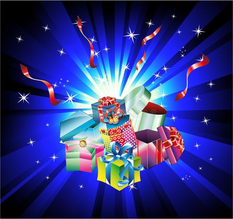 Fond de cadeau de Noël avec la conception abstraite Ele illustration libre de droits