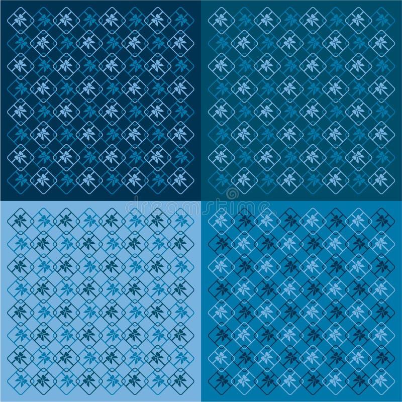 Fond de cadeaux dans le bleu illustration stock