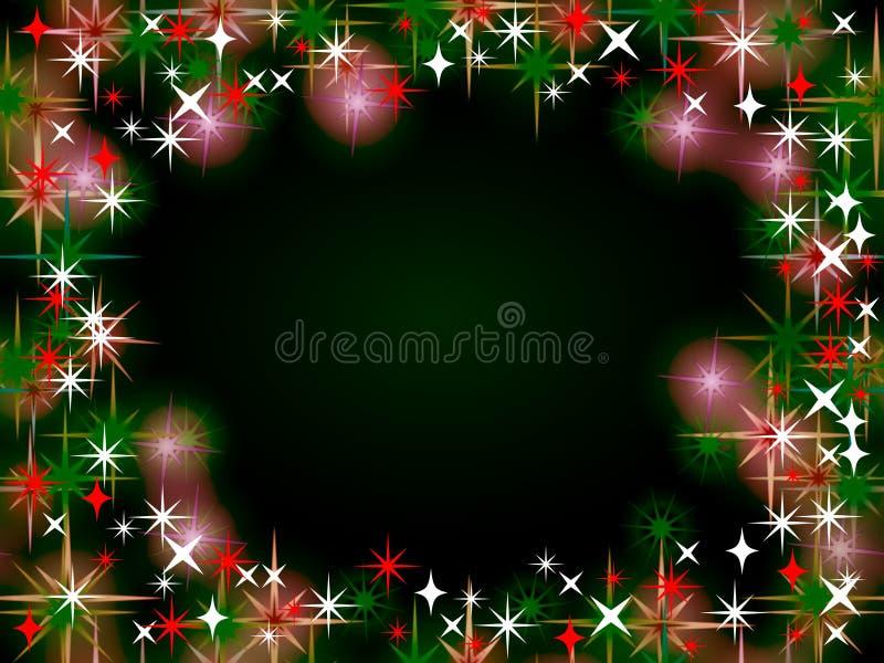 Fond de cadre de Noël illustration stock