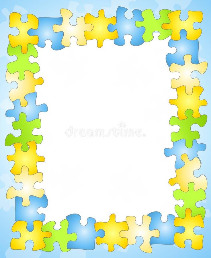 Fond de cadre de trame de puzzle illustration stock