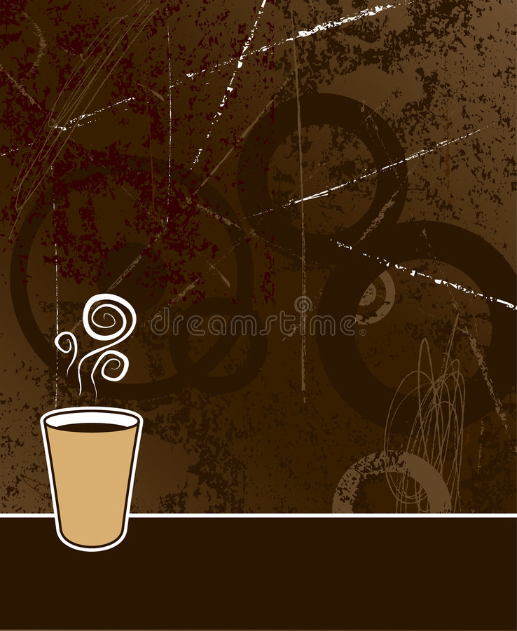 Fond de café illustration de vecteur
