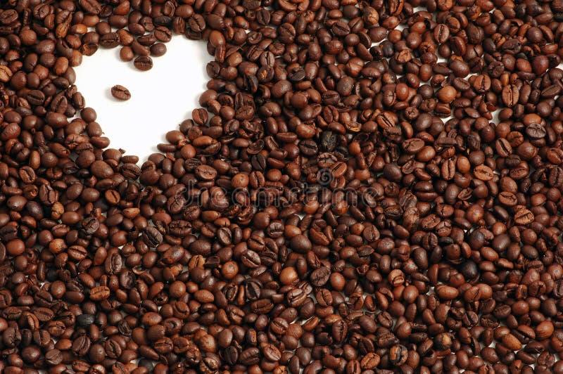 Fond de café avec le coeur image libre de droits