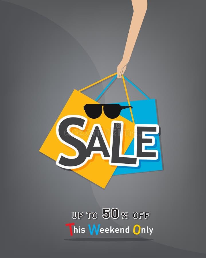 Fond de calibre de vente à la remise jusqu'à 50%  illustration libre de droits