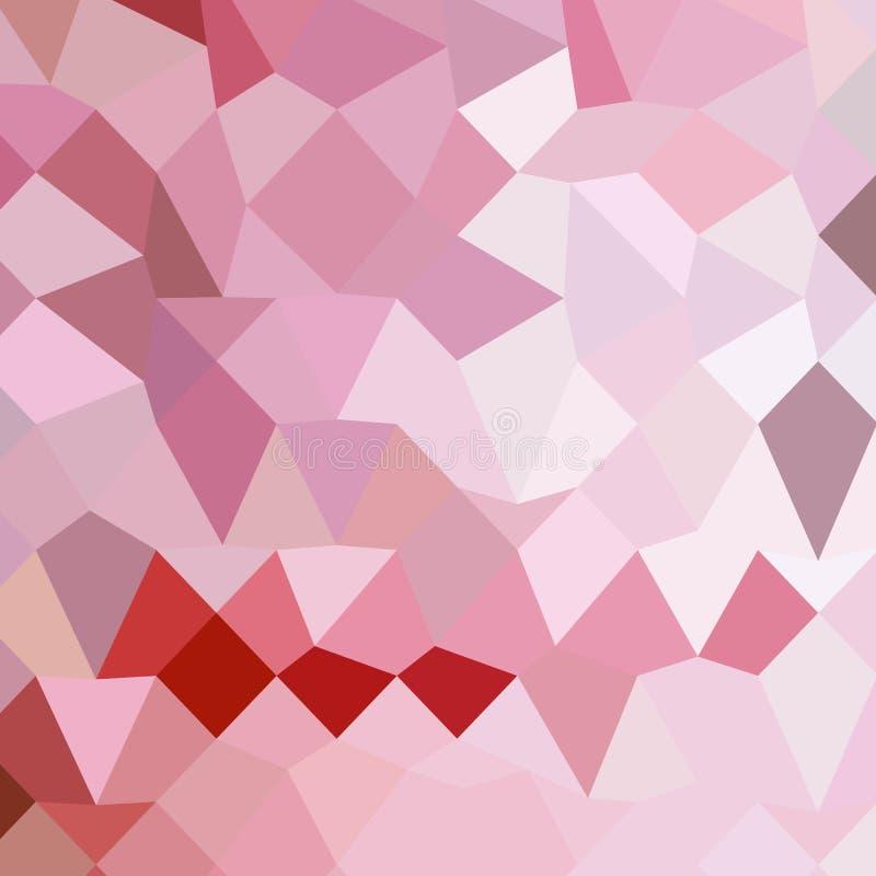 Fond de Cameo Pink Abstract Low Polygon illustration libre de droits