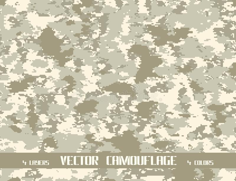 Fond de camouflage de vecteur de pixel illustration stock