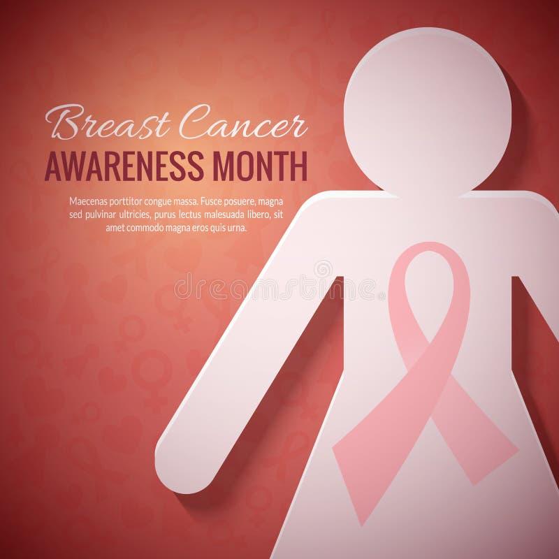 Fond de campagne de mois de conscience d'octobre de cancer du sein illustration de vecteur