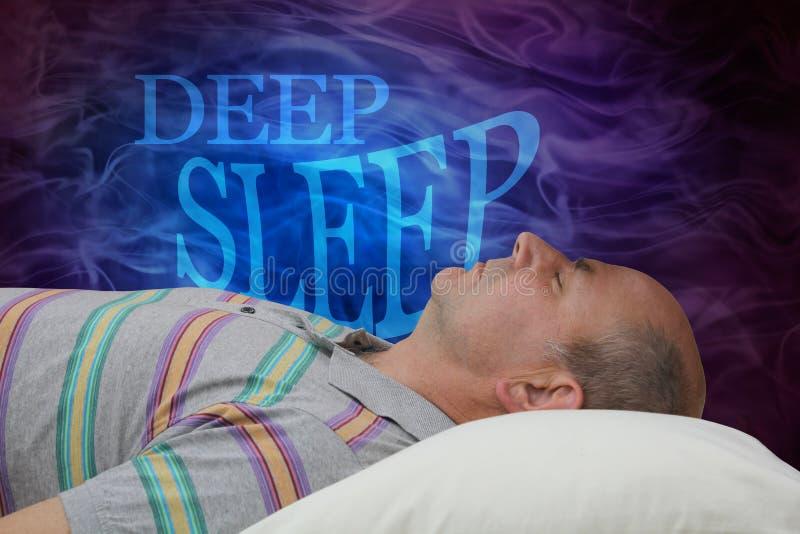 Fond de campagne de sensibilisation de sommeil profond photo stock