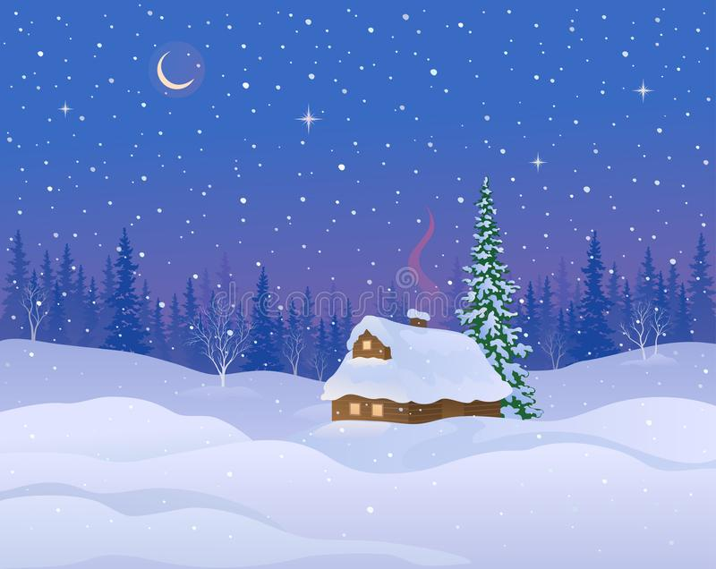 Fond de carlingue d'hiver illustration stock