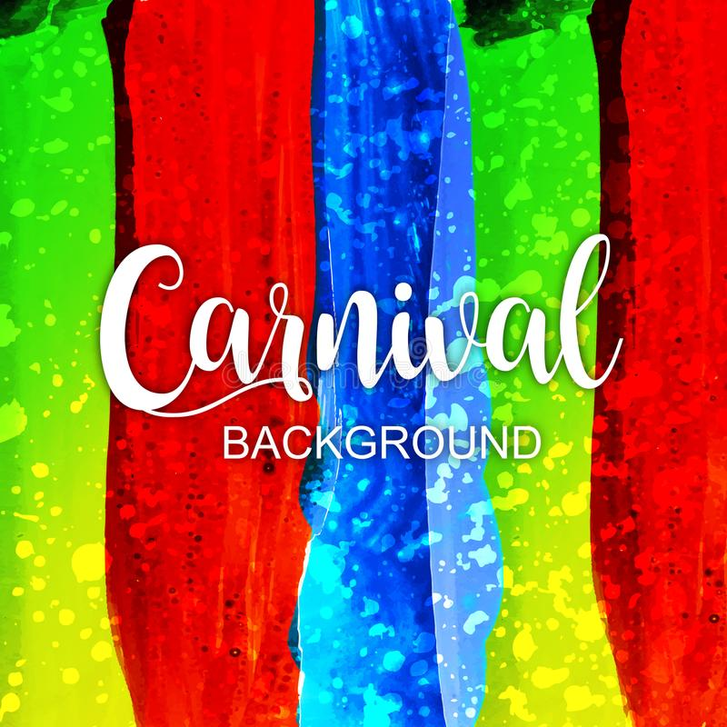 Fond de carnaval d'aquarelle image libre de droits