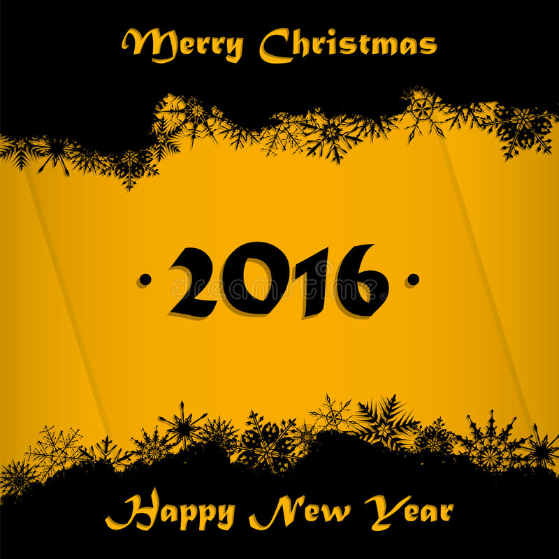 Fond de carte de Joyeux Noël et de bonne année 2016 illustration libre de droits