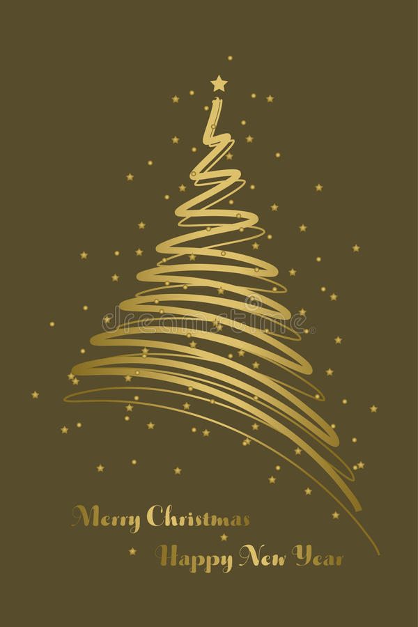 Fond de carte de Noël illustration libre de droits
