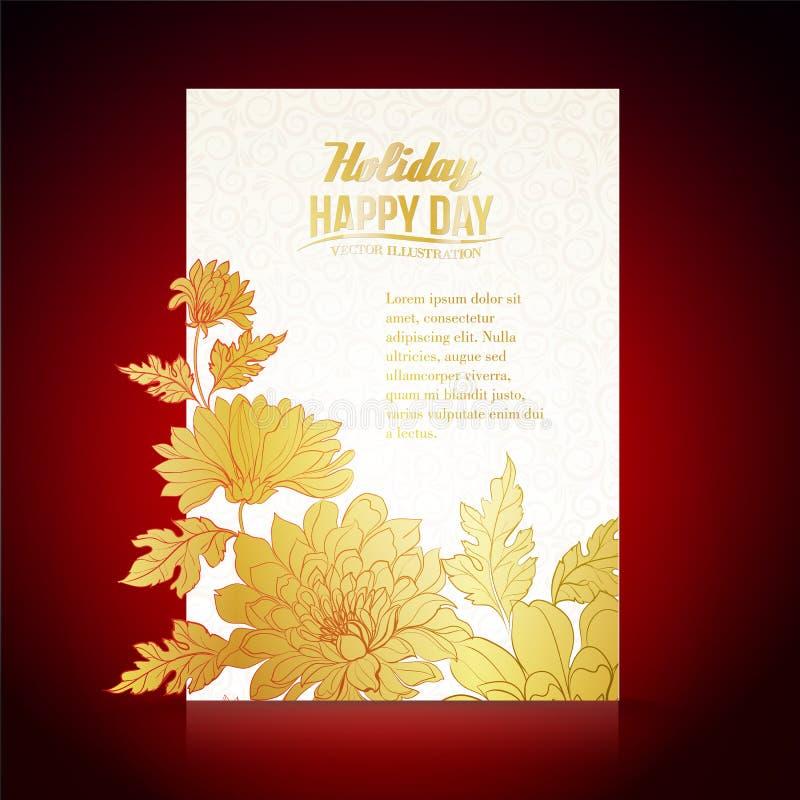 Fond de carte des chrysanthèmes illustration de vecteur