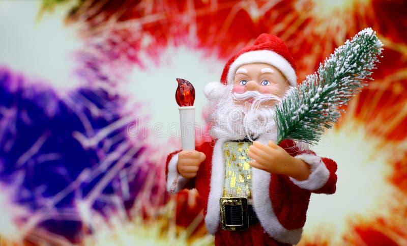 Fond de carte du ` s de nouvelle année avec Santa Claus images stock