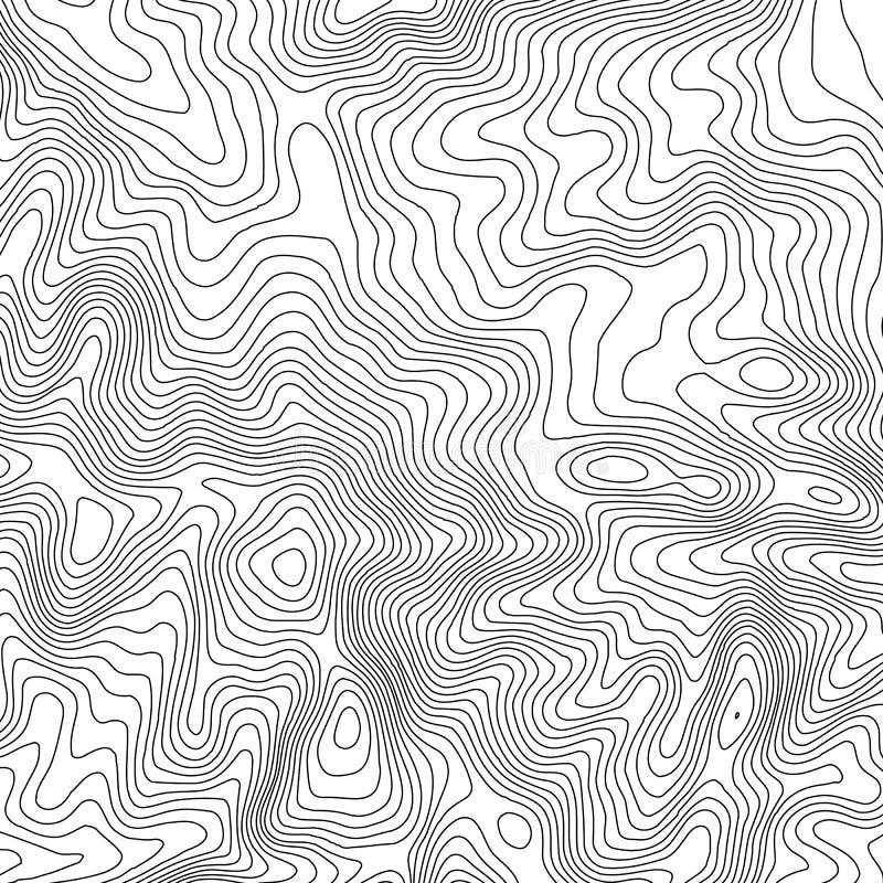 Fond de carte topographique avec l'espace pour la copie Rayez le fond de découpe de carte de topographie, abrégé sur géographique illustration libre de droits
