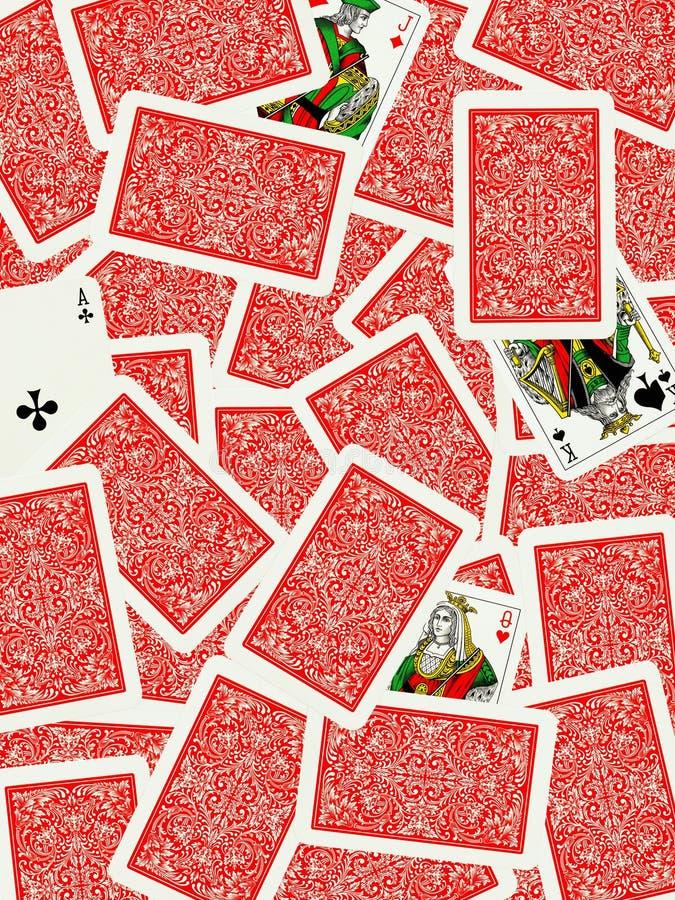 Fond de cartes de jeu photo libre de droits