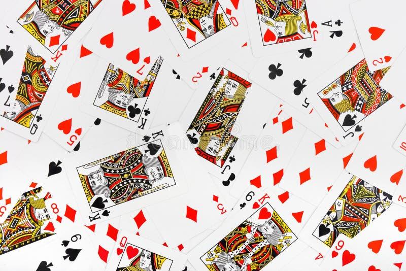Fond de cartes de jeu photographie stock