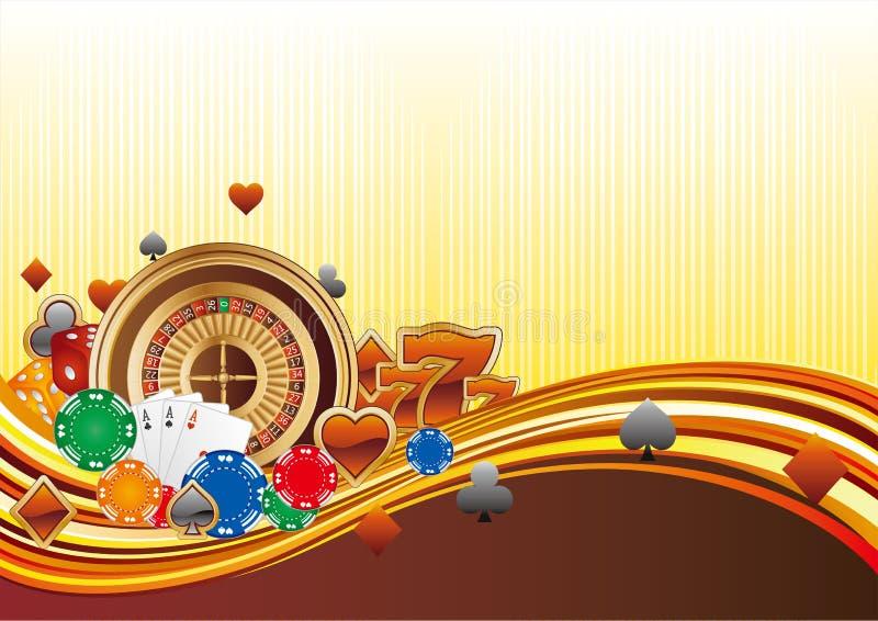 fond de casino illustration stock