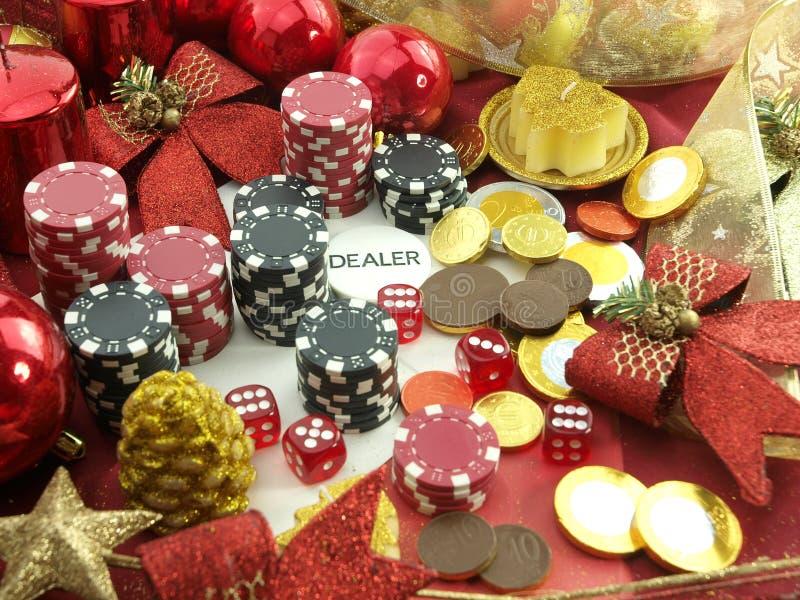 Fond de casino de Noël images libres de droits