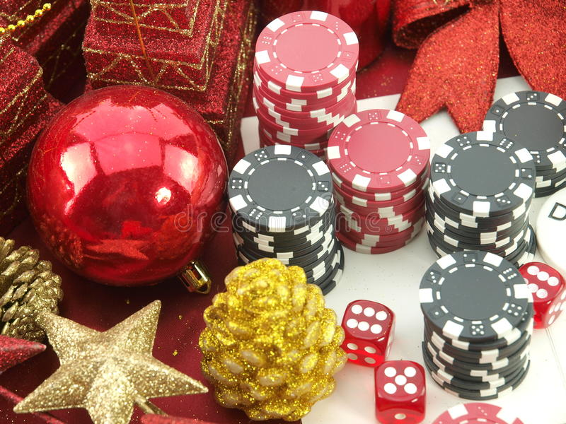 Fond de casino de Noël photographie stock libre de droits