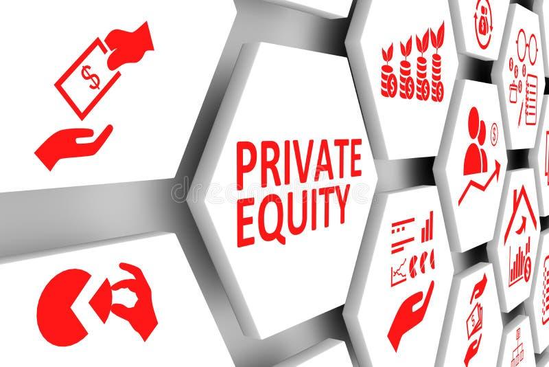 Fond de cellules de concept de PRIVATE EQUITY illustration stock
